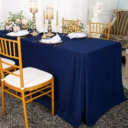 """72""""x30""""x29""""(6 Ft) Rectangular Scuba (Wrinkle-Free) Fitted Table Covers (4 colors)"""