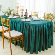 6' Rectangular Ruffled Fitted Crushed Taffeta Tablecloth With Skirt - Oasis 63458 (1pc/pk)