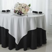 "72"" x 72"" Square Scuba (Wrinkle - Free) Tablecloths / Table Overlay Toppers (7 Colors)"