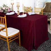 """72""""x30""""x29""""(6 Ft) Rectangular Scuba (Wrinkle-Free) Fitted Table Cover - Burgundy 21710 (1pc/pk)"""