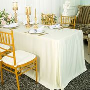 """72""""x30""""x29""""(6 Ft) Rectangular Scuba (Wrinkle-Free) Fitted Table Cover - Ivory 21702 (1pc/pk)"""