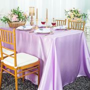 "72"" x 120"" Rectangular Satin Tablecloth - Lavender 55211(1pc/pk)"