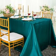 "72"" x 120"" Rectangular Satin Tablecloth - Peacock 55259(1pc/pk)"