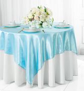 "72"" Square Satin Table Overlays - Baby Blue 51120 (1pc/pk)"