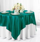"72"" Square Satin Table Overlays - Oasis 51158(1pc/pk)"