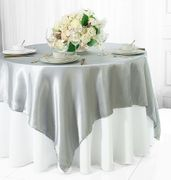 "72"" Square Satin Table Overlays - Platinum / Light Silver 51150(1pc/pk)"