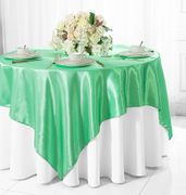 "72"" Square Satin Table Overlays - Sage Green 51130(1pc/pk)"