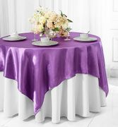 "72"" Square Satin Table Overlays - Victoria Lilac 51153(1pc/pk)"