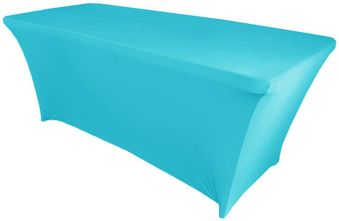 8 Ft (200 GSM) Rectangular Spandex Table Covers (40 Colors)