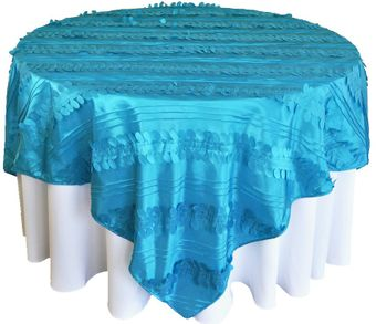 """85"""" Square Forest Taffeta Table Overlays / Table Cloths (10 colors)"""