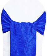 "9.5""x108"" Crushed Taffeta Chair Sashes - Royal Blue 61122(10pcs/pk)"