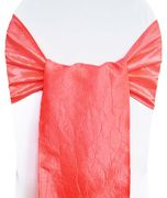 "9.5""x108"" Crushed Taffeta Chair Sashes - Coral 61106(10pcs/pk)"