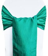 "9.5""x108"" Crushed Taffeta Chair Sashes - Jade 61126(10pcs/pk)"
