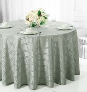 "90"" Round Plaid Polyester Tablecloths (6 colors)"