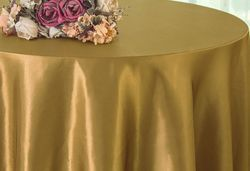 "90"" Round Satin Table Overlay - Antique Gold 55529(1pc/pk)"
