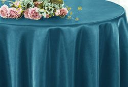 "90"" Round Satin Table Overlay - Serene 55588(1pc/pk)"