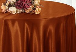"""90"""" Seamless Round Satin Table Overlays (57 colors)"""