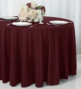 """90"""" Seamless Round Scuba (Wrinkle-Free) Tablecloths (7 Colors)"""