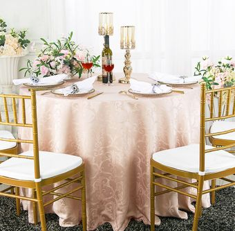 """90"""" Versailles Chopin Round Jacquard Damask Polyester Tablecloths (14 colors)"""