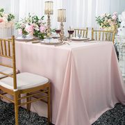 "90""x 132"" Seamless Rectangular Scuba (Wrinkle-Free) Tablecloth - Blush Pink 21115 (1pc/pk)"