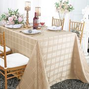 "90""x 156"" Rectangular Plaid Polyester Tablecloths (6 colors)"