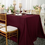 "90""x 156"" Seamless Rectangular Scuba (Wrinkle-Free) Tablecloth  - Burgundy 21210 (1pc/pk)"