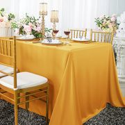 "90""x 156"" Seamless Rectangular Scuba (Wrinkle-Free) Tablecloth  - Gold 21227 (1pc/pk)"