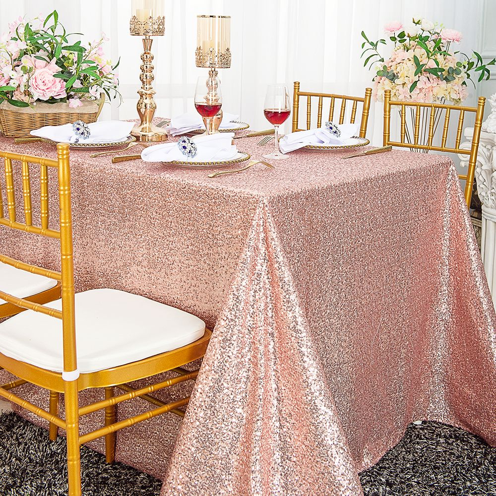 Sequin RECTANGULAR Tablecloth Dinner Wedding Linens Party Decorations Wholesale