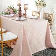 "90""x 132"" Rectangular Damask Jacquard Polyester Tablecloths (14 colors)"