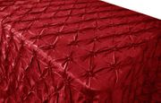 "90""x132"" Seamless Pinchwheel Taffeta Tablecloth - Apple Red 66708(1pc/pk)"