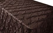 "90""x132"" Seamless Pinchwheel Taffeta Tablecloth - Chocolate 66791(1pc/pk)"