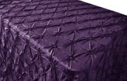 "90""x132"" Seamless Pinchwheel Taffeta Tablecloth - Eggplant 66745(1pc/pk)"
