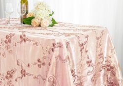 "90""x132"" Rectangular Seamless Ribbon Taffeta Tablecloths (16 Colors)"