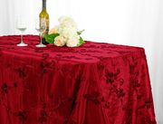 "90""x 132"" Rectangular Seamless Ribbon Taffeta Tablecloth - Apple Red 65708(1pc/pk)"