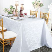 "90"" x 156"" Marquis Rectangular Jacquard Damask Polyester Tablecloths (12 colors)"