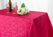 "90""x 156"" Rectangular Versailles Chopin Jacquard Damask Polyester Tablecloths (14 colors)"