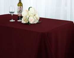"90"" x 132"" Seamless Rectangle Scuba (Wrinkle-Free) Tablecloths (7 colors)"