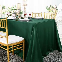 "90"" x 132"" Seamless Rectangular Scuba (Wrinkle-Free) Tablecloths (15 colors)"