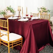 "90""x 156"" Rectangular Satin Tablecloth - Burgundy 55710(1pc/pk)"