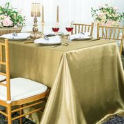 "90""x 156"" Rectangular Satin Tablecloth - Cappuccino 55746(1pc/pk)"