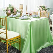 "90""x 156"" Rectangular Satin Tablecloth - Mint Green 55734(1pc/pk)"