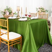"90""x 156"" Rectangular Satin Tablecloth - Moss Green 55717(1pc/pk)"