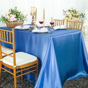 "90""x 156"" Rectangular Satin Tablecloth - Periwinkle / Cornflower 55725(1pc/pk)"