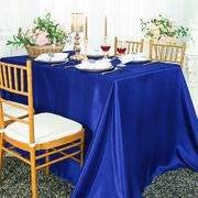 "90""x 156"" Rectangular Satin Tablecloth - Royal Blue 55722(1pc/pk)"