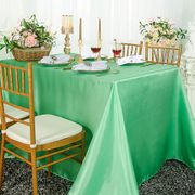 "90""x 156"" Rectangular Satin Tablecloth - Sage Green 55730(1pc/pk)"