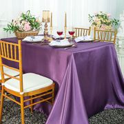 "90""x 156"" Rectangular Satin Tablecloth - Wisteria 55773(1pc/pk)"