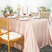 "90""x 156"" Rectangular Satin Tablecloth - Blush Pink 55715 (1pc/pk)"
