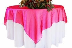 90x90 Seamless Square Organza Table Overlays / Tablecloths ( 41 colors)