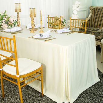 """96""""x30""""x29""""(8 Ft) Rectangular Scuba (Wrinkle-Free) Fitted Table Covers (6 colors)"""