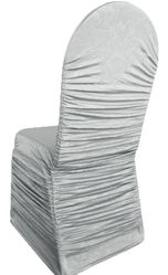 Embossed Vintage Rouge Spandex Banquet Chair Covers - Silver 62740(1pc/pk)